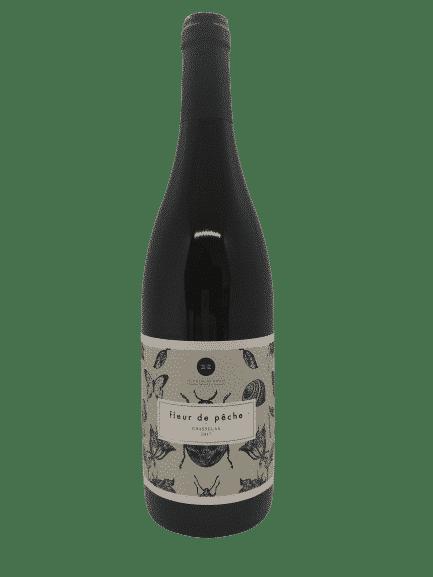 vin bio fleur de pêche de la maison du moulin